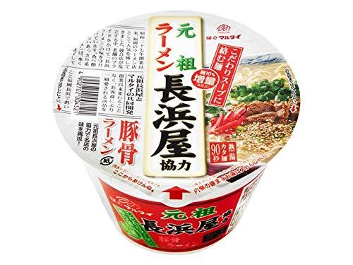 九州の味 マルタイ 元祖長浜屋 協力 豚骨ラーメン カップ 145g x12