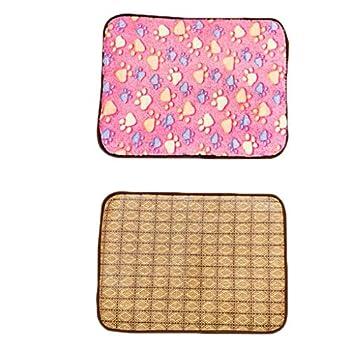 Matelas Tapis for Chien Four Seasons Tapis Universel for Chien Été Pet Cool Pad Golden Retriever Tapis de Sol Tapis de climatisation (Color : Pink, Size : XS)