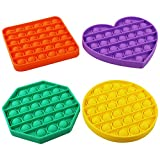 Push pop Bubble Sensory Fidget Toy, Autism Special Needs Stress Reliever Silicone Stress Reliever Toy, Squeeze Sensory Toy (Multicolor and Shape 4)