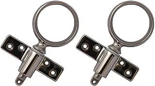 2X Stainless Steel Oarlock Sockets Side Mount Line Brass Boat Side Mount Rowlock