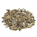 Lot de 100 pendentifs breloques bronze vieilli fait à la ma