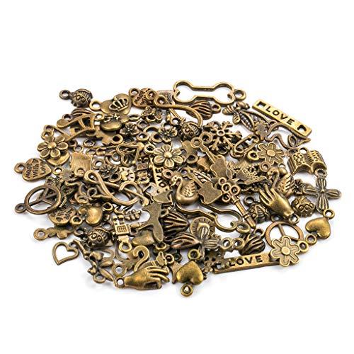 100 Stück Antike Bronze Charm Anhänger DIY handgemachte Bronze Accessoires Halskette Anhänger Schmuck Machen Lieferungen Schmuck Basteln Armband Halskette Ohrring Gemischte Charms