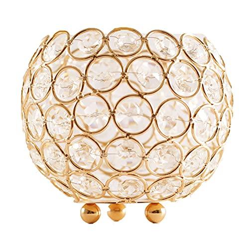 Candelabro de cristal decorativo de hierro candelabro soporte para boda 13x13x10cm decoración