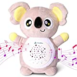 SleepBliss Koala Baby Soother, Portable Baby Sound Machine, Star Projector Night Light, 13 Soothing Lullabies & White Noise Machine, Auto-Off Timer, Washable, Baby Gifts with Secure Velcro for Kids