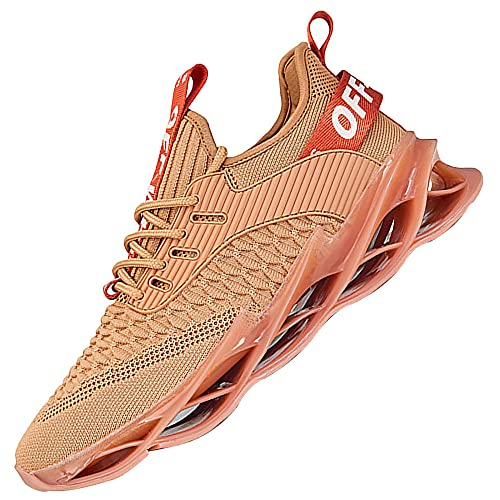Men'S Lightweight Sneakers Breathable Running Shoes,Comfort Athletic Sport Running Walking Shoes,Brown_42