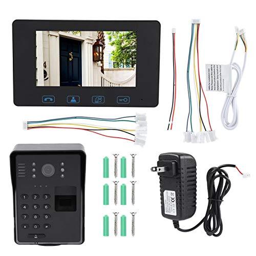 Timbre Visible Inalámbrico HD Pantalla Digital a Color de 7(American standard (110-240V))