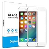 2-Pack iPhone 6 6s Screen Protector, DIGITWHALE 3D Full Curve Soft Edge 0.2mm Tempered Glass Screen Protector for iPhone 6 4.7'' and iphone 6s 4.7'- White