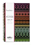Nicole Miller for Blue Sky 2018-2019 Academic Year Weekly & Monthly Planner, Flexible Cover, Twin-Wire Binding, 5' x 8', Tribal Design