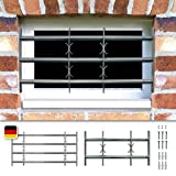 Fenstergitter Sicherheitsgitter Amsterdam ausziehbar in 9 Größen 300x500-650 mm