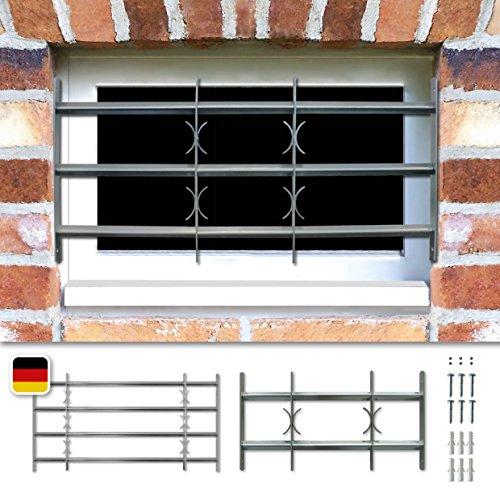 Fenstergitter Sicherheitsgitter Amsterdam ausziehbar in 9 Größen 300x700-1000 mm