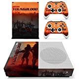 Wolfenstein Skin Cover for Xbox One S Console and 2 Wireless Controller Protective Skin by Mr Wonderful Skin