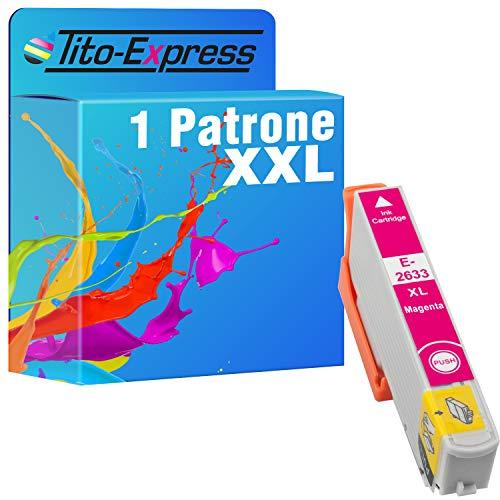 Tito-Express Cartucho de tinta ProSerie 1 compatible con Epson T2633XL 26 XL con 12,5 ml magenta XXL, XP-510, XP-520, XP-600, XP-605, XP-610, XP-615, XP-620, XP-625, XP-700 y XP-710.
