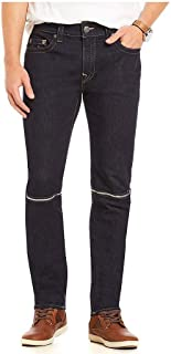 True Religion Men's Rocco No Flap Knee Zip Skinny Fit Denim Jeans