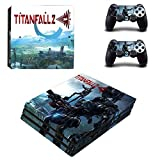 Playstation 4 Pro Skin Set – Action game - HD Printing Vinyl Skin Cover Protective for PS4 Pro Console and 2 PS4 Controller . (Only PlayStation 4 Pro)