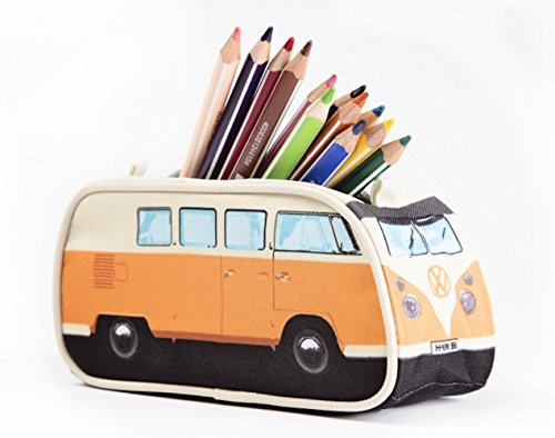 VW Volkswagen T1 Camper Van Pencil Case - Blue - Multiple Color Options Available