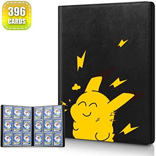 Cpano Kartenhalter Buch Tragetasche Ordner für Pokemon Sammelkarten / Yugioh Karten, Hält bis zu 396 Karten. Inhaber Albumbinder Kompatibel mit 22 Premium 18-Pocket Seiten (Cartoon)