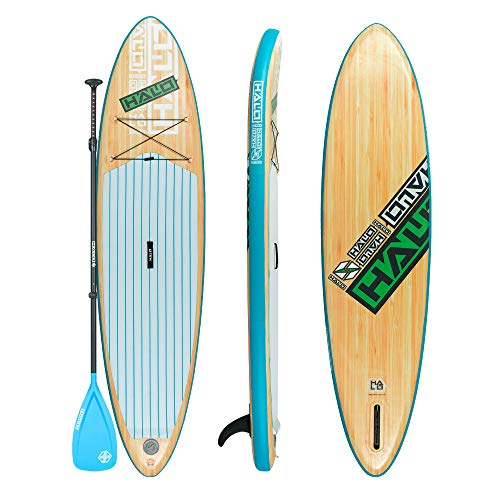Halo Luxury Tabla de remo inflable SUP 10'6' x 32' x 6' Woody