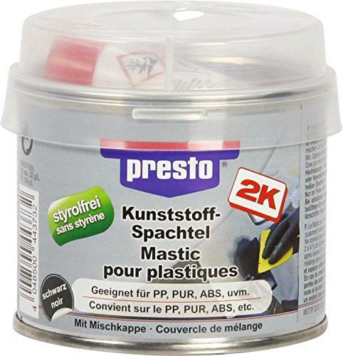 Presto KUNSTSTOFFSPACHTEL Polyester STYROLFREI SCHWARZ HOCHELASTISCH 250 g
