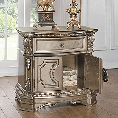ACME Nightstand, Antique Champagne