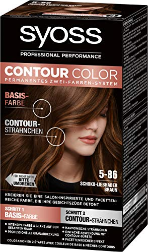 Syoss Contour Color 5-86 Schoko-Liebhaber Braun, 1er Pack (1 x 183 ml)