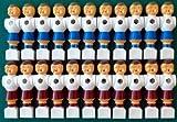 Ilonas Playworld - Juego de 22 figuras de futbolín (de PVC, 16 mm), color rojo y azul