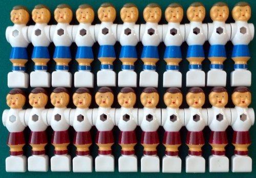 22 Kickerfiguren Standard weiß/blau und weiß/rot