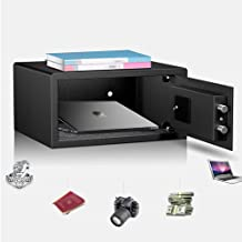 Digital Safe Box All Steel Safe Deposit Box Home Office Hotel Small Storage Case with Password Use for Jewelry Money File ...