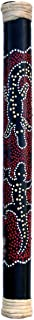 Bamboo Rainstick with Painted Aboriginal Design, 24 inches long
