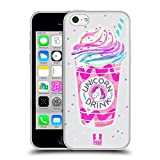 Head Case Designs Bebida Rainbow Treats de Unicornio Carcasa de Gel de Silicona Compatible con Apple iPhone 5c