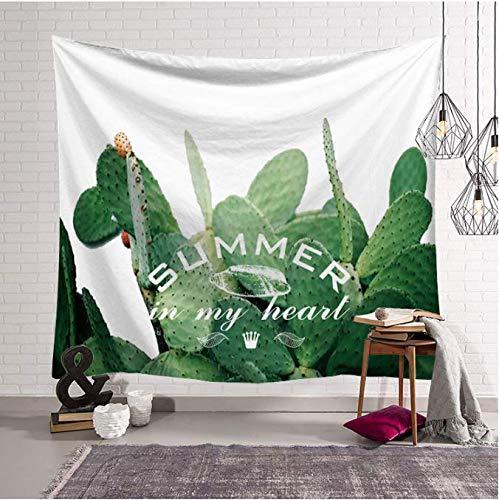 Cactus Tapisserie Tenture murale Art Print Plantes Vertes Tapisserie Tissu Décor Couverture De Plage Serviette Couvre-Lit 200X150Cm Grand Tapis