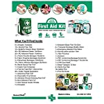 First Aid Kit -Compact First Aid Bag(175 Piece) - Reflective Bag Design- Includes 2 x Eyewash,Instant Cold Pack… 8