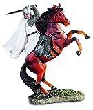 Reproduction - Estatua de resina templaria sobre caballo, 24/21,8/5 cm