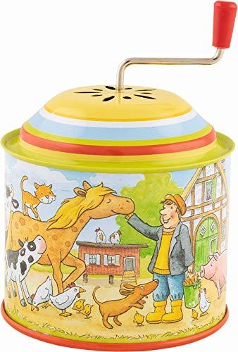 Goki- Caja de música, melodía: La Granja de Pepito Muebles para niños, Color (Multicolor) (60724)