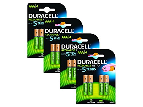 Duracell - Piles Rechargeables - AAA - Pack de 16