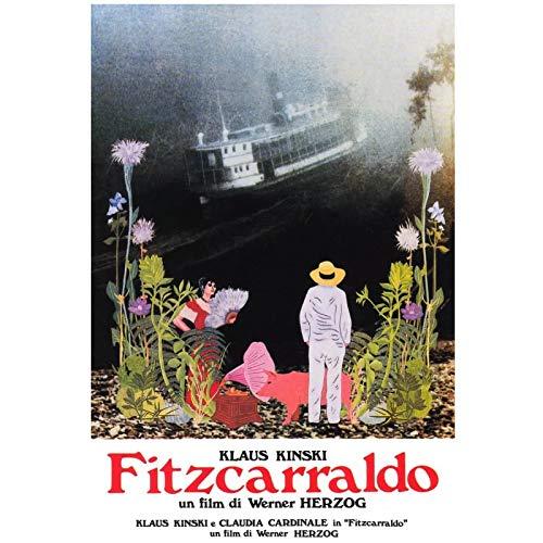 SDGW Fitzcarraldo Werner Herzog Vintage Retro Moive Leinwand Malerei Film Dekorative Poster Wandkunst Leinwand Home Decor-50X70Cm No Frame