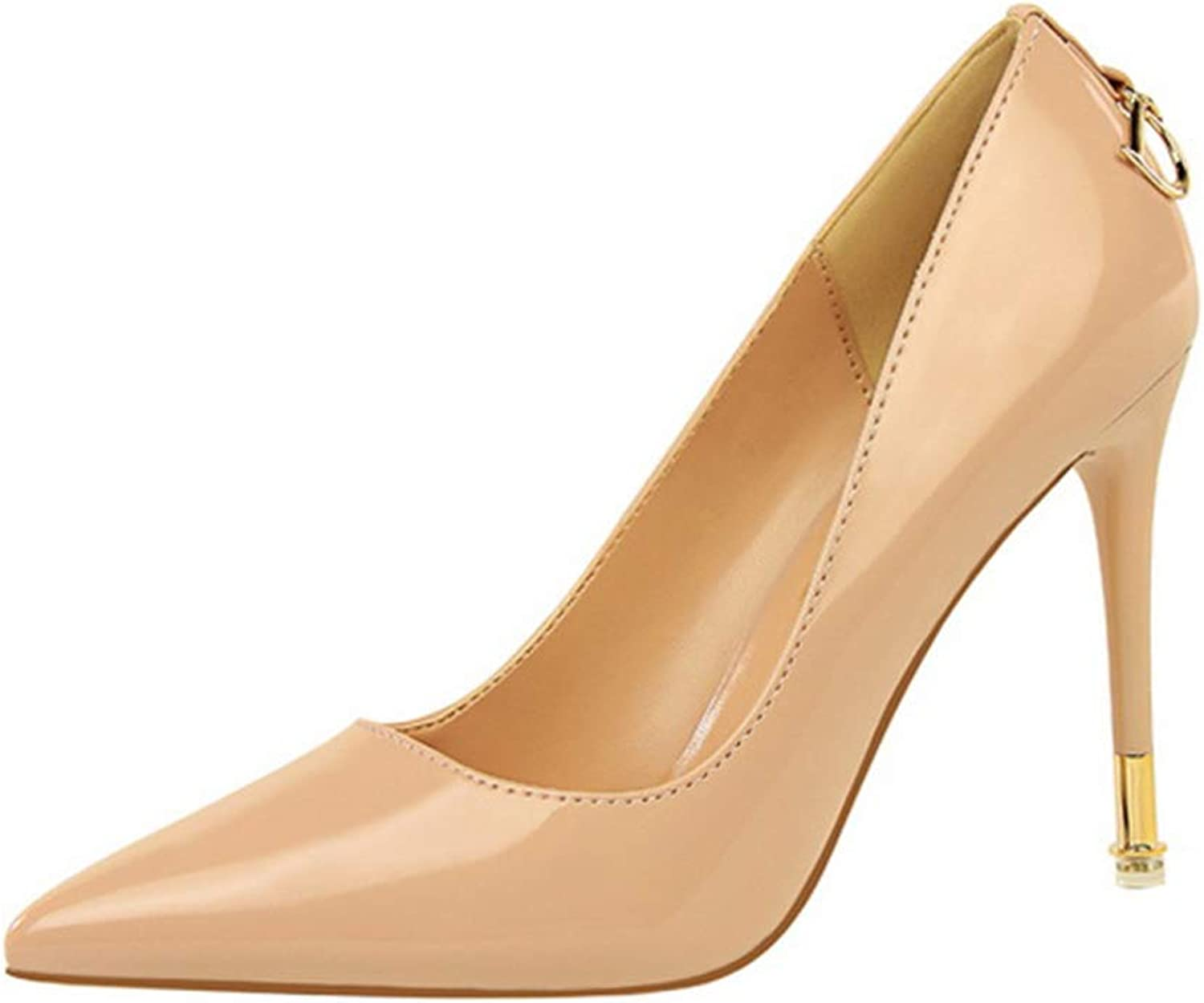 Drew Toby Women Pumps Elegant Office Lady Sexy Patent Leather Pointed Wedding High Heels