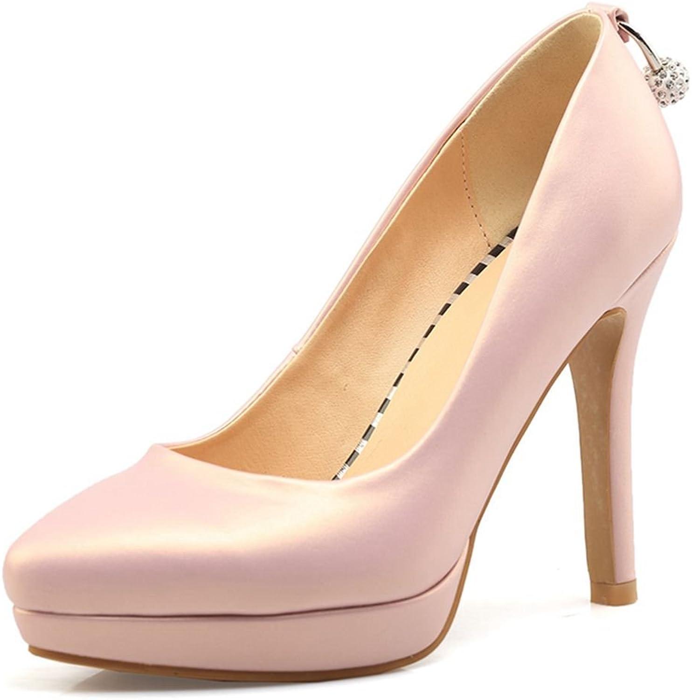 SaraIris Women's Pointed Toe Stioletto High Heels Rhinestones Slip on Pumps shoes