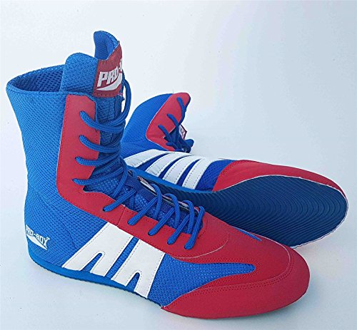 Pro Box Junior Boxing Boots Blue/Red - 5