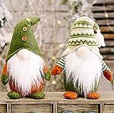 JaosWish 2 gnomos de Navidad suecos, decoraciones de Navidad Gonks Santa Felpa Ornamento Tomte sin rostro muñeca elfo hecho a mano para el hogar vacaciones decoración interior