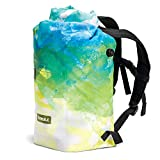 IceMule 1008-DD Jaunt Large Collapsible Portable Soft Sided Roll Top 15 Liter 12 Can Lightweight Insulated Waterproof Leak Proof Backpack Cooler Bag, for Hiking, Camping, Fishing, & Picnic