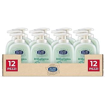Neutro Roberts, Sapone Liquido Per Le Mani, Sapone Antibatterico Delicato, Senza Sapone - 12 Flaconi da 300 ml