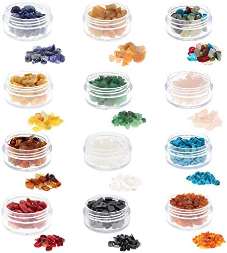 Fun Weevz 180 240 PCS Natural Gemstone Beads for Jewelry Making Adults Semiprecious Stone Chips product image