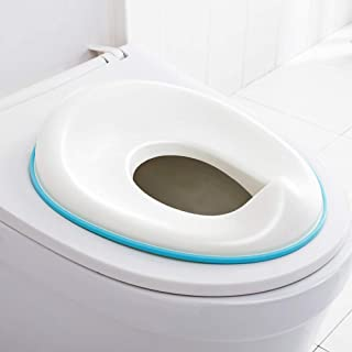 FORUP Potty Training Seat for Kids, Non Slip with Splash Guard, Fits Round or Oval Toilets, Includes Free Storage Hook (White)