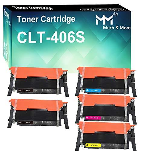 MuchMore Paquete de 5 Cartuchos de tóner compatibles con Samsung CLX-3305FW 3306FW 3307FW SL-C460FW C462FW C463FW CLP-365W 367W