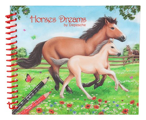 Depesche 8087 – Libro para Colorear Pocket Horses Dreams