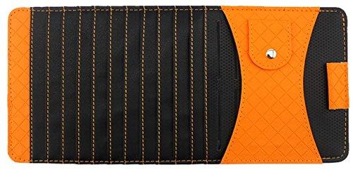 Suncer Car Sun Visor CD / DVD Discs Organizer Leather Storage Wallet Sleeve Holder