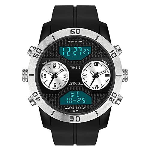 Watch 丨 Reloj Electrónico Para Estudiantes Masculinos Deportes Digitales Al Aire Libre Impermeable Reloj Juvenil Impermeable Tendencia De Moda Para Hombres Cronógrafo Reloj De Pulsera Multifunción