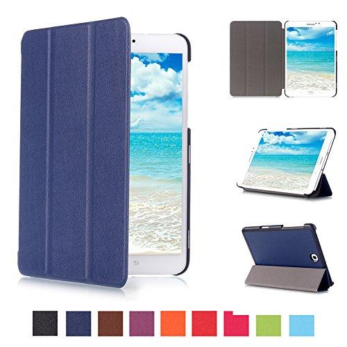 Skytar Samsung Tab S2 8'' Copertura,Cover per Tab S2 T710,Smart Folio Case Cover Stand Copertina in PU Pelle Custodia per Samsung Galaxy Tab S2 8.0 Pollici T710 / T715 / T719 Tablet,Blu navy