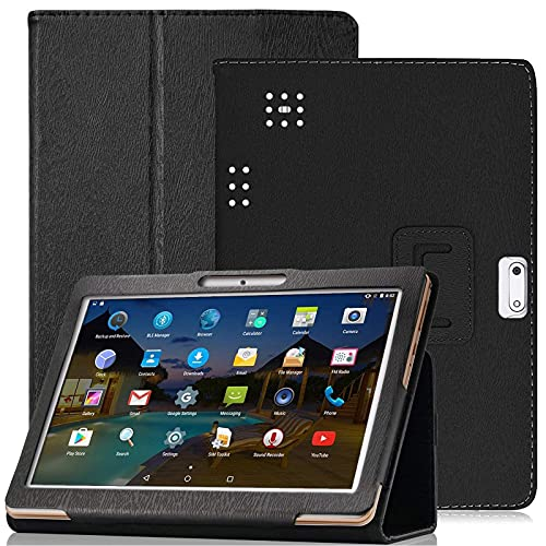 """YELLYOUTH 10.1 inch Android Tablet Case,DETUOSI PU Leather Folio Cover Compatible with Yuntab 10.1 (K107/K17),Plum 10"""" Phablet,Lectrus 10,Victbing 10,Hoozo 10,Wecool 10.1,KUBI 10.1,Winsing LLLCCORP 10"""