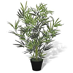 Top-Spring Artificial Bamboo Tree with Pot 31″